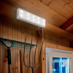 Esotec Lampe solaire abri de jardin 10 LEDS avec sensor
