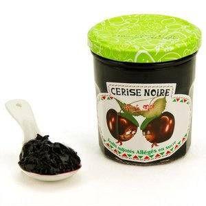 Francis Miot Confiture de cerise noire allégée en sucre - Pot 320g