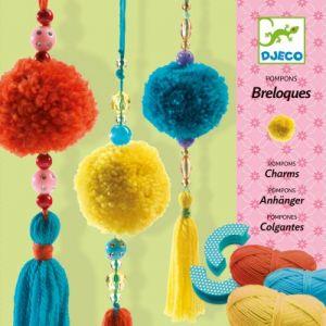 Djeco Atelier créatif Pompons breloques x10