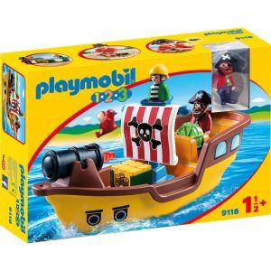 Image de Playmobil 9118 - 1.2.3 : Bateau de pirates
