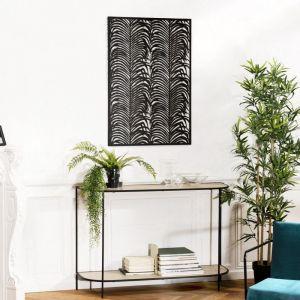 Macabane Décoration murale rectangulaire 68x100cm métal noir