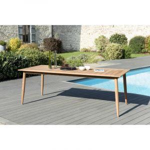 Macabane Table à manger pieds scandi 220 x 100cm couleur naturelle