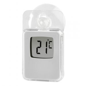 Hama Window Thermometer for Indoors and Outdoors, Digital, 7.5 x 4.5 cm, white