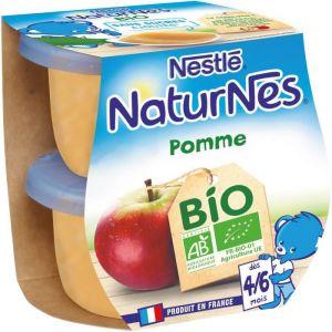 Nestlé Naturnes Bio Pomme 2 x 115 g - dès 4/6 mois