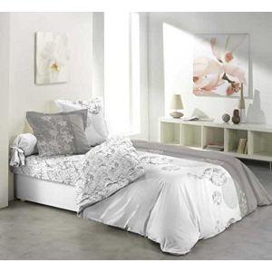 Bubbles - Drap housse, drap plat et 2 taies 100% coton 42 fils (140 x 190 cm)