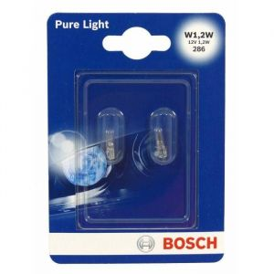 Bosch 2 Ampoules W1,2W Pure Light 12 V