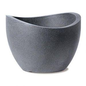 Scheurich 53382 250/60 Wave Globe Pot de Fleurs Plastique Granit Noir 60 x 60 x 45 cm