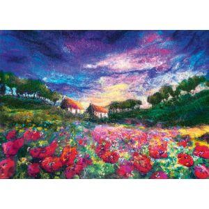 Heye Puzzle 1000 Pièces : Sundown Poppies