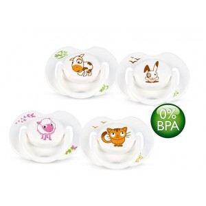 Philips Avent SCF182/23 - 2 sucettes décorées animal en silicone (0-6 mois)