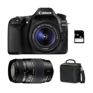 Canon EOS 80D (avec 2 objectifs 18-55mm et Tamron 70-300mm)