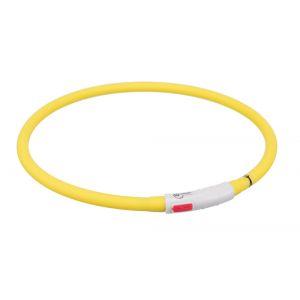 Trixie Flash anneau lumineux usb - XS-XL: 70 cm/ø 10 mm, jaune