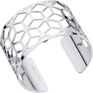 Les Georgettes Bracelet Résille Argent Large