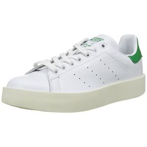 Adidas Stan Smith Bold, Baskets Femme, Blanc (Footwear White/Footwear White/Green), 37 1/3 EU