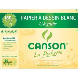 Canson 27115 - 10 Feuilles de papier dessin C 224 g (A3)