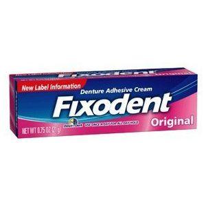 Fixodent Original - Crème adhésive pour appareil dentaire | Pack de 5