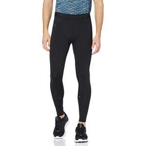 Under Armour Hommes UA Rush legging pour homme, collant running homme avec technologie Rush, legging de sport avec coupe compression-Noir-M