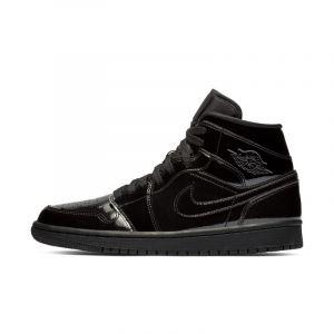 Nike Chaussure Air Jordan 1 Mid pour Femme - Noir - Couleur Noir - Taille 38