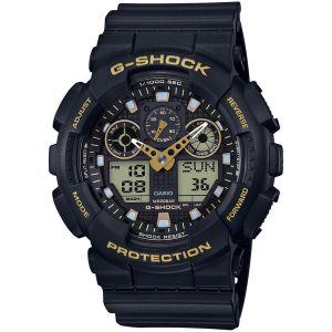 Casio Montre G-Shock Black & Gold GA-100GBX-1A9ER - Montre Multifonctions Résine Noir Mixte