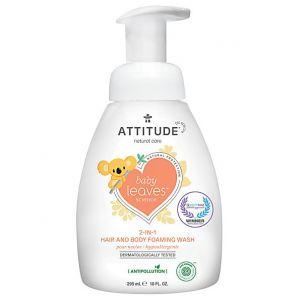 Attitude Nettoyant moussant cheveux et corps 2 en 1 pour bébés Baby Leaves 295ml - Nectar de poire - 295 ml