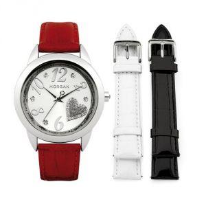 Morgan M1168B - Coffret montre pour femme avec 3 bracelets