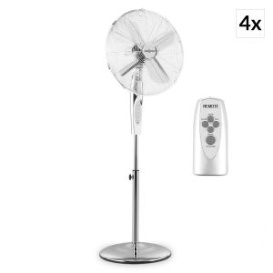 OneConcept Metal Blizzard RC - Set 4 ventilateurs 50 Watts avec télécommande