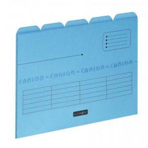 Elba 100330155 - Sous-dossier Ultimate chemise 5 intercalaires, lot de 5, A4 kraft bleu
