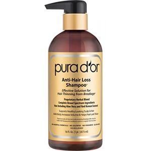 Pura d'or Shampoo por la perte de cheveux