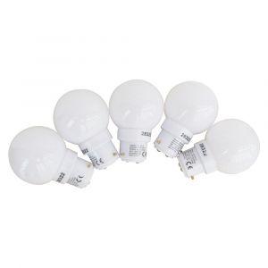 Tibelec 361910 Ampoule de Rechange B22 LED Blanc pour Guirlande Plastique Lot de 5