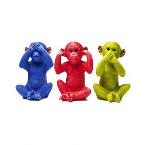 Kare Design Tirelire chimpanzé bleu MIZARU