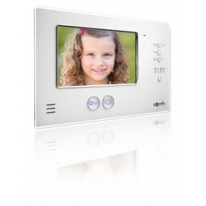 "Somfy Interphone vidéo couleur 2 fils avec écran TFT 7"" V200 blanc"