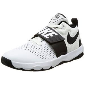 Nike Team Hustle D 8 (GS), Chaussures de Basketball Garçon, Blanc (White/Black 100), 36 EU