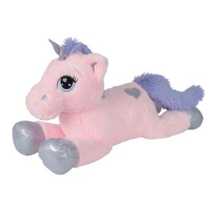Simba Toys Peluche Licorne Couchée 115 cm - Rose