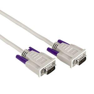 Hama 75042092 - Câble VGA Sub-D 15HD M/M Filtre 5m