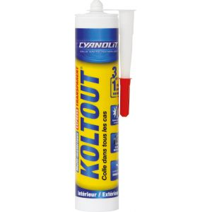 Colle cyanolit koltout vg transparent cartouche 290 ml