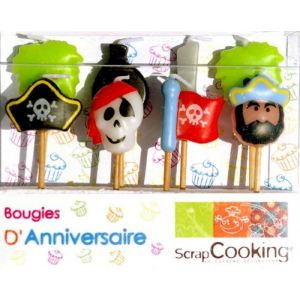 Scrapcooking 8 bougies Pirates