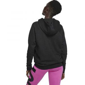 Nike W NSW ESSNTL Hoodie PO FLC Sweat-Shirt Femme, Black/White, FR (Taille Fabricant : XS)