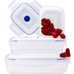 Aspifresh 3 boîtes alimentaires rectangulaires en plastique