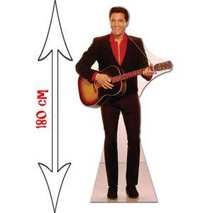 Star Cutouts Figurine géante en carton Elvis Presley chemise rouge (180 cm)