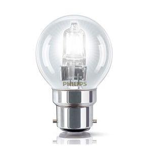 Philips 925648644202 - Ampoule Eco-Halogène Sphérique Culot B22 28 Watts consommés (Equivalence incandescence 35W)