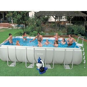 Intex 54982FR - Piscine hors sol tubulaire rectangulaire Ultra Frame 549 x 274 x 132 cm
