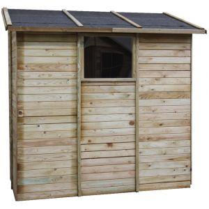 Elisa - Abri de rangement adossé en bois 2,63 m²