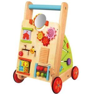 I'm Toy Chariot de marche en bois 10 activités