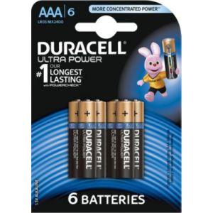 Duracell 6 Piles Alcaline Ultra Power AAA