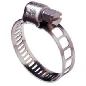 Image de Bossard 1142534 - Collier de serrage bande ajourée Acier Zingué DIN 3017 Ø16-27 mm