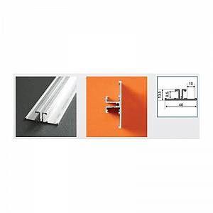 Vision-El Profilé aluminium anodisé LED ARRIERE 2000 mm pour bandeau LED -