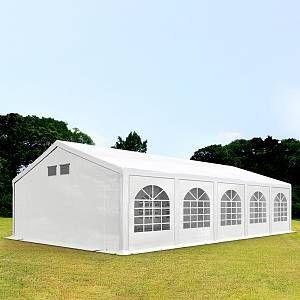 Intent24 Fr Tente de réception 5x10m PE 300 g/m² blanc imperméable barnum, chapiteau