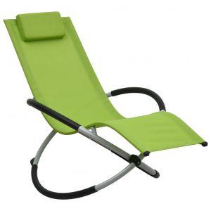 Image de VidaXL Chaise longue pour enfants Acier Vert