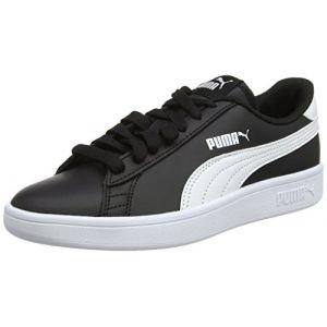 Puma Smash V2 L Jr, Sneakers Basses Mixte Enfant, Noir Black White, 38 EU