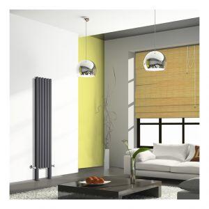 hudson reed vitality plus 1228 watts radiateur eau chaude design vertical avec pieds de. Black Bedroom Furniture Sets. Home Design Ideas