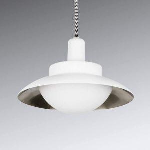 Faro Suspension LED Side, blanc et nickel mat